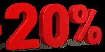 Sniženja 20%